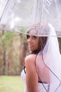 Rainy Day Happy Bride