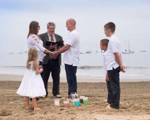 Intimate Wedding at Capitola Beach